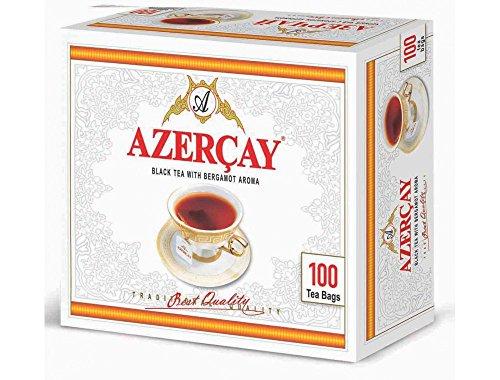 AZERCAY schwarzer Tee mit Bergamottearoma 200 g aus Aserbaidschan 100 Teebeutel a 2 g / Dogma Cay