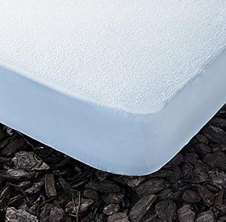 Cotopur Protector DE COLCHÓN Impermeable con Rizo. Lavable. (Blanco 90x190 cm)
