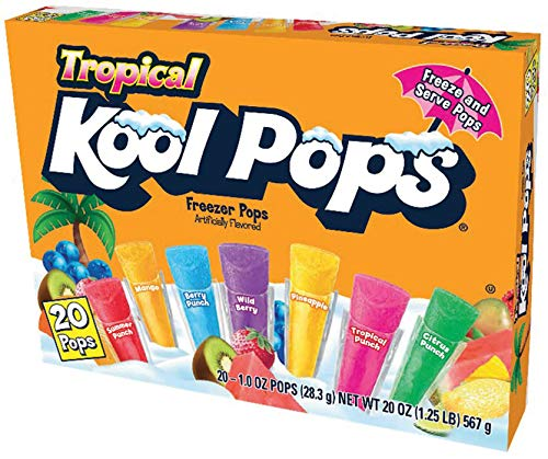 Kool Pops Tropical Freezer Pops, 20 x 28,3 g