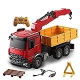 Dump Truck RC grúa grande de coches de juguete eléctrico de 2,4 GHz Ingeniería vehículo grande de la grúa a distancia modelo del vehículo Ingeniería de Control de la grúa eléctrico Simulación coches d