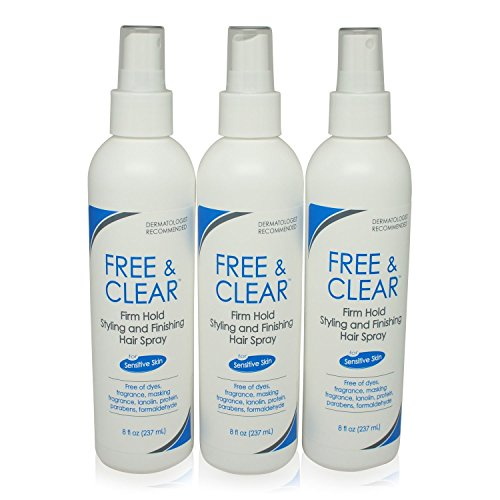 Free & Clear Hairspray Firm Hold 8 Ounce 3 pack