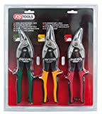KS Tools 118.0050 Jeu de cisaille pour Tôles 3 pièces