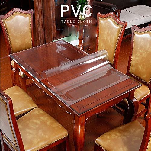 Bqynys tafel beschermende stickers, transparant plastic tafelkleed, tafelkleed, PVC-tafelkleed, 3,0 mm transparante kunststof plaat 70 * 70 cm