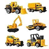STOBOK 6 in 1 Satz Engineering Fahrzeuge Kinder Bau Lkw Spielzeug Box Pädagogisches Vorschule...