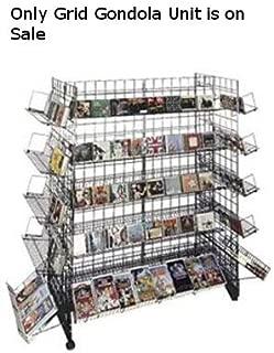 New retails Black Finished CD/DVD Grid Gondola Unit 24