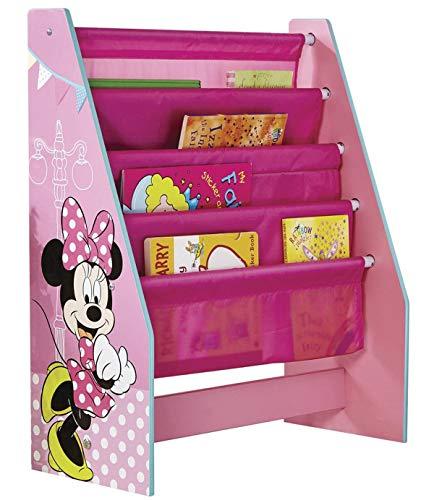 PEGANE Bibliothèque à Pochettes pour Enfants Motif Minnie Mouse Disney - Dim : 60 x 51 x 23 cm