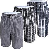 JINSHI Men's Pajama & Sleep Jam Cargo Shorts Lounge Pants 3Pack