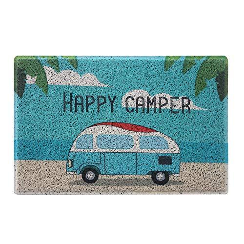 Aucuda Happy Camper Funny Door Mat Rug Welcome Mat for Front...