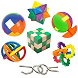 IQ Challenge Set by GamieUSA - 7 Pcs Kids Educational Toys for 5 Year Olds - Highly Stimulating Brain Teasers...
