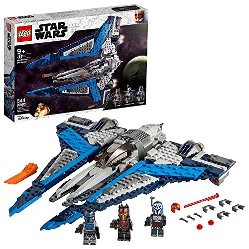LEGO Star Wars Mandalorian Starfighter 75316 Awesome Toy Building Kit for Kids Featuring 3 Minifigures; New 2021 (544 Pieces)