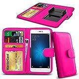 N4U ONLINE® Clip Serie Kunstleder Brieftasche Hülle für Allview X2 Soul Pro - Rosa