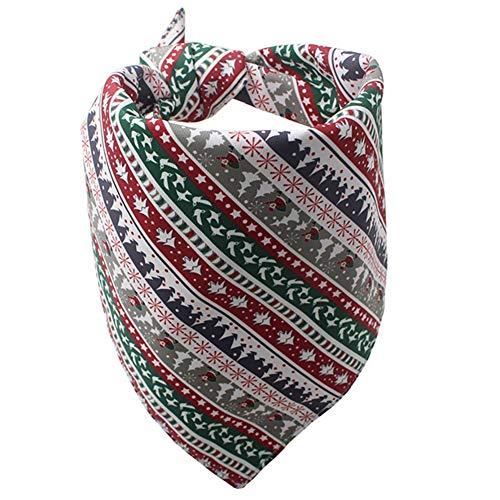 Savlot halsdoek voor honden, Kerstmis, honden, polyester, katoen, bandana, drieang, slabbetjes, hond, sjaal, zakdoeken, M, Wit.