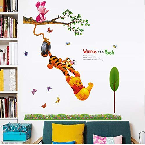 Animal Dessin Animé Winnie L'Ourson Autocollants Muraux Pour Enfants Chambres De Bébé Garçons Fille Décor À La Maison Stickers Muraux Décoration De La Maison Papier Peint