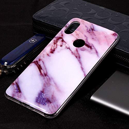 Funda telefónica para Xiaomi Funda de TPU Suave con patrón de mármol for Xiaomi Redmi S2 (Flor del Ciruelo) (Color : Púrpura)