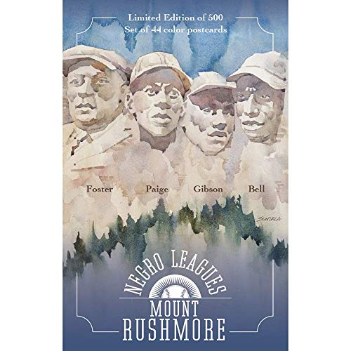 Negro Leagues Mount Rushmore Limited Edition 44 Postcard Set - Individually Numbered to 500 - Featuring Baseball Legends Including Satchel Paige, Josh Gibson, Cool Papa Bell and Buck Leonard