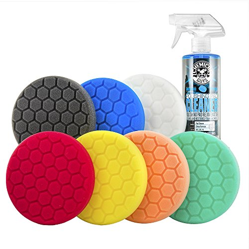 Chemical Guys BUF_HEX_Kits_8P Hex-Logic Buffing Pad Kit, 5.5', 8 Items