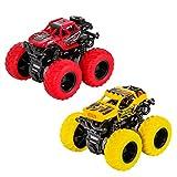 TWFRIC Niños Inercia Coche, 2 PCS Vehículos Juguetes Camión 360 Grado Rotación Coches para Niños Niñas