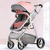 YQLWX Cochecito, sistema de viaje Carro infantil, cochecito de bebé portátil, cochecito de bebé con shock resistente a los golpes, silla para recién nacidos y niños pequeños, carro plegable anti-shock