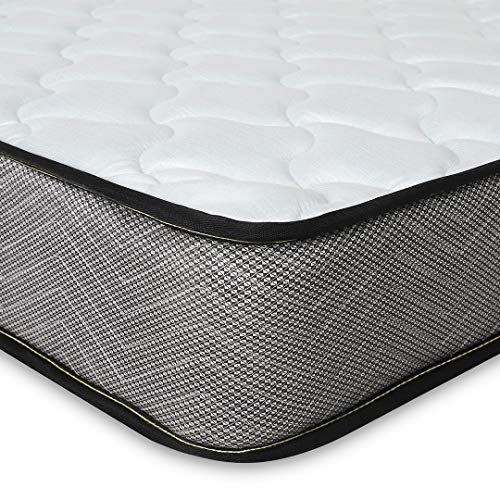 Good Nite Spring Mattress 3FT with 5mm Memory Foam Medium Hardness 3D Breathable Knitting Fabric Fire Resistant Support System 16cm Height (Single (90 x 190)