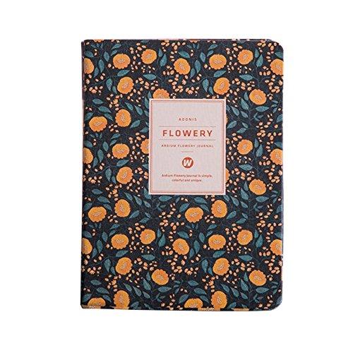 ToiM Flowery - Cuaderno de planificador para mujer o niña, calendario organizador