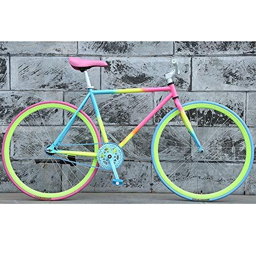 YXWJ 26 pollici Mountain Bike della bicicletta 2020 Donne strada uomini urbano della bici pista ciclabile Frame con scatto fisso in fibra di carbonio Forcella 90 millimetri RIM strada della bici della