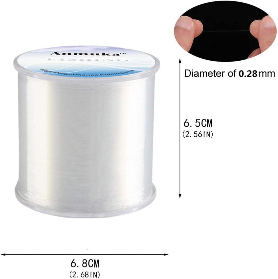 Yongbest L/ínea de Pesca,500 Metros Nylon Monofilamento Alambre Linea de Pesca Sedal 0.28 mm para L/ínea de Pesca Cord/ón Cadena DIY Accesorio