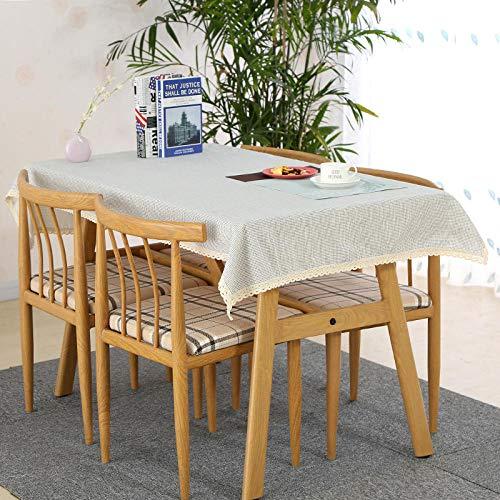 Onderhoudsvriendelijk, vuilafstotend, hoge temperatuurbestendigheid, keuze uit diverse kleuren en afmetingen, salontafel, eettafel, eenkleurig, katoen, vierkant, tafelkleed, afdekdoek, 2 x 150 x 180 cm.