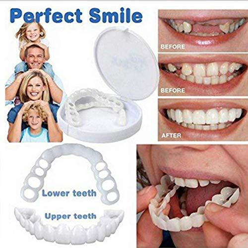 Cosméticos Dientes Sonrisa Confort Ajuste Dentaduras Postizas Top Dental Para Reemplazar Los Dientes Faltantes Reemplazo De Aparatos Ortopédicos Superiores Inferiores, Kits Blanqueamiento Dientes