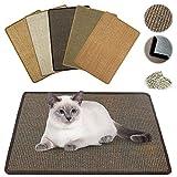 NASTRA Kratzmatte Katze - Sisal, Langlebige Rutschhemmende Sisal-Matte, Geeignet für Fußbodenheizung, Krallenpflege Sisalteppich für Wand & Boden (Zufällige Farbe) 40 * 60CM