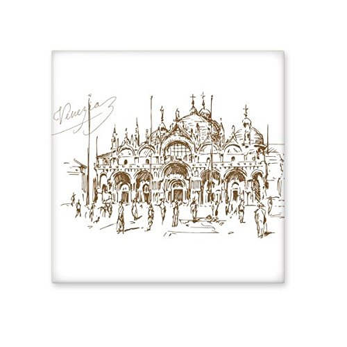 Die venezianische Kirche venezianischen Landmark Muster Keramik Bisque Fliesen für Dekorieren Zimmer Küche Keramik Fliesen Wand Fliesen Medium