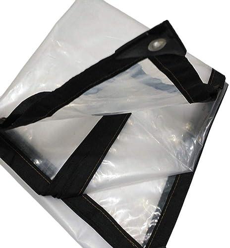 WZLDP Poncho Transparent en Plastique imperméable à l'eau en Plastique en Plein air abri Anti-poussière auvent Couvert Film Froid Anti-UV
