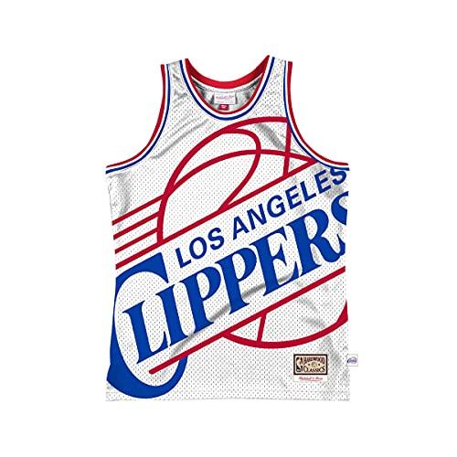 Mitchell & Ness NBA Blown Out Fashion LA Clippers - Camiseta de manga corta, color blanco Blanco XL