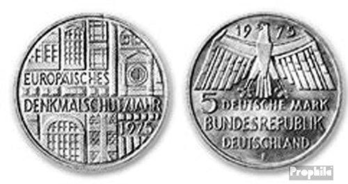BRD (BR.Deutschland) Jägernr: 417 1975 F Stgl./unzirkuliert Silber 1975 5 DM Denkmalschutz (Münzen für Sammler)