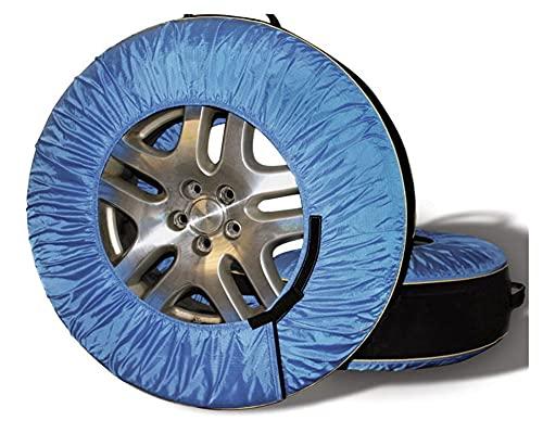 Cywangyoujin 4 unids auto desmontable vehículo de vehículo de recambio tapa de rueda de neumático protector protector de almacenamiento de automóviles a prueba de polvo a prueba de polvo apta para 30