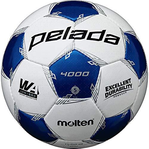 モルテン(molten) サッカーボール 5号球 中学生以上 検定球 ペレーダ4000 F5L4000-WB ホワイト×メタリックブルー F5L4000-WB