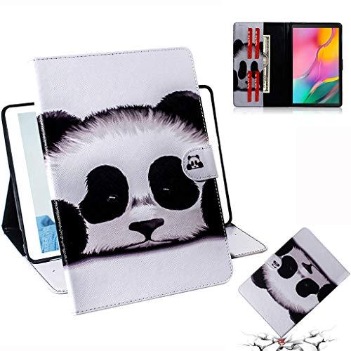 Careynoce Galaxy Tab Een 10.1 Hoes, Geschilderd Patroon PU Lederen Magnetische Boek Flip Portemonnee Tablet Case voor Samsung Galaxy Tab Een SM-T510/T515 10.1 inch 2019 met Auto Slaap/Wake Functie, Wolf, CH-02