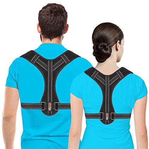 Haltungskorrektor für Männer und Frauen, Oberer Rückenbügel zur Unterstützung des Schlüsselbeins, verstellbarer Rückenstrecker und Schmerzlinderung von Nacken, Rücken und Schulter, (Universal)
