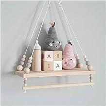 Handgemaakte Shelf Kinderkamer Opknoping Bead Shelf Nordic Style Nursery Decoration wandschappen Opslag Planken (Color : Y...