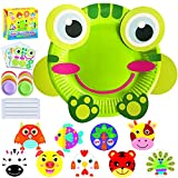 ZMLM Art Craft Gift for Kids: Paper Plate Art Kit for Girl Boy Toy DIY Animal Art Supply Projects Toddler Creative Activity Children Preschool Classroom Party Favor Bulk Birthday Christmas Game Crafts