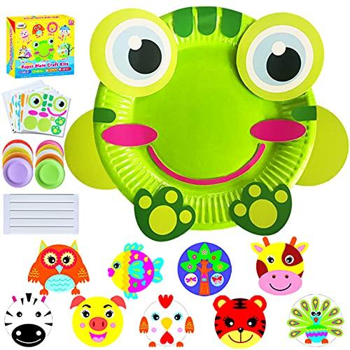 ZMLM Art Craft Gift for Kids: Paper Plate Art Kit for Girl Boy Toy DIY Animal...