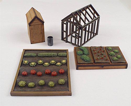 WWS Allotment Garden Set OO/HO Gauge Railway Model Modelling Shed Vegetable Patch