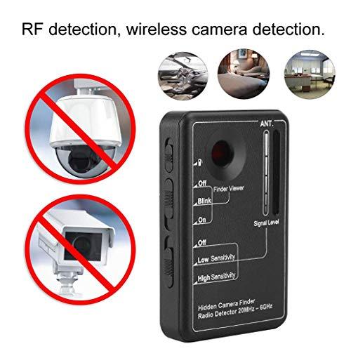 HWENJ Rilevatore di Segnali RF Ad Alta Sensibilità Rilevatore di Bug Rilevatore di Telecamere Scanner Rilevatore Wireless Rilevatore di Bug della Fotocamera Rilevatore di Telecamere Spia