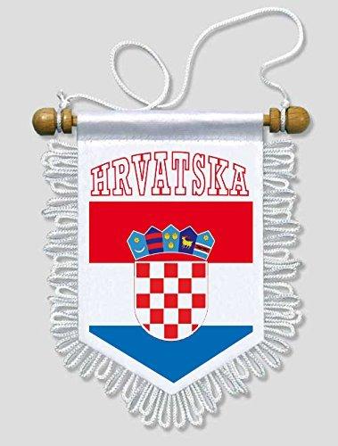 KOO Interactive - Kroatien - 13 x 15 cm - Auto Wand Fahne Flagge Wimpel
