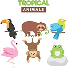 Drawings of Tropical and Exotic Animals   Blank Lined Notebook