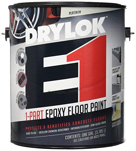 UNITED GILSONITE LAB 23813 Drylok E-1, Gallon, Platinum, 1 Part Epoxy Semi-Gloss Floor Paint, 128 Fl Oz (Pack of 1)