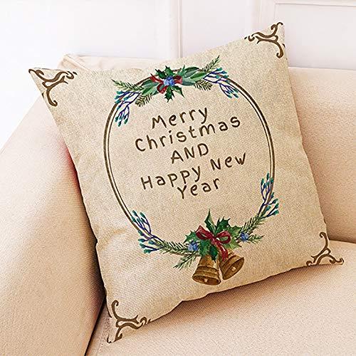 LSAltd Pillow Covers Christmas Throw Pillow Covers Santa Christmas Cushion Covers Pillowcase Zipper Closure 18' x18