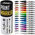 Acrylico Markers Paint Pens | 16 Vibrant Acrylic Markers Extra-Fine Tip Set | Non-Toxic, Opaque Ink