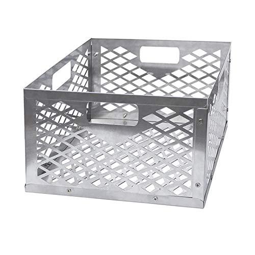 Holzkohlekorb, Edelstahl-Holzkohlebox, Holzkohle-Feuerbox-Korbbox, Offset-Raucher-Holzkohlegrillkörbe, 11,8 Zoll