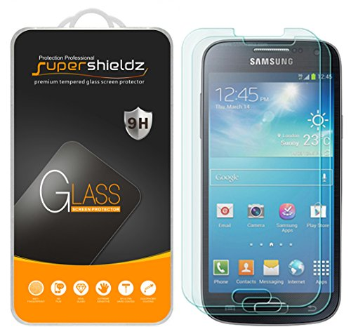 Supershieldz (2 Pack) for Samsung Galaxy S4 Tempered Glass Screen Protector, Anti Scratch, Bubble Free