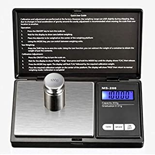 Báscula digital para joyas de bolsillo 0.01 Mini balanza electrónica de precisión Peso Gramo de oro Balanzas para monedas Lcd 5 unidades - Negro